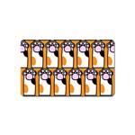 Cute Cat Hand Orange Magnet (Name Card)