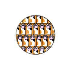 Cute Cat Hand Orange Hat Clip Ball Marker by AnjaniArt