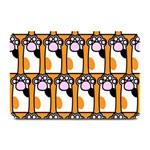 Cute Cat Hand Orange Plate Mats