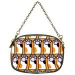Cute Cat Hand Orange Chain Purses (One Side)