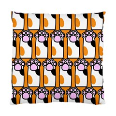 Cute Cat Hand Orange Standard Cushion Case (two Sides) by AnjaniArt