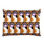Cute Cat Hand Orange Pillow Case