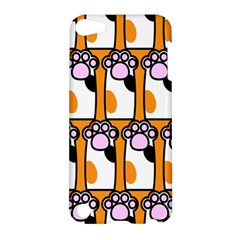 Cute Cat Hand Orange Apple iPod Touch 5 Hardshell Case by AnjaniArt