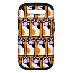 Cute Cat Hand Orange Samsung Galaxy S Iii Hardshell Case (pc+silicone) by AnjaniArt