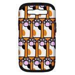 Cute Cat Hand Orange Samsung Galaxy S III Hardshell Case (PC+Silicone)