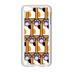 Cute Cat Hand Orange Apple Ipod Touch 5 Case (white) by AnjaniArt