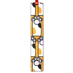 Cute Cat Hand Orange Large Book Marks by AnjaniArt