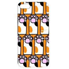 Cute Cat Hand Orange Apple Iphone 5 Hardshell Case With Stand by AnjaniArt