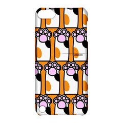 Cute Cat Hand Orange Apple Ipod Touch 5 Hardshell Case With Stand by AnjaniArt