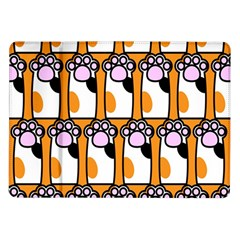 Cute Cat Hand Orange Samsung Galaxy Tab 10 1  P7500 Flip Case by AnjaniArt