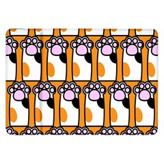 Cute Cat Hand Orange Samsung Galaxy Tab 8 9  P7300 Flip Case by AnjaniArt