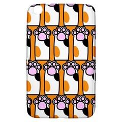 Cute Cat Hand Orange Samsung Galaxy Tab 3 (8 ) T3100 Hardshell Case  by AnjaniArt