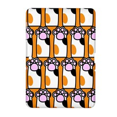 Cute Cat Hand Orange Samsung Galaxy Tab 2 (10 1 ) P5100 Hardshell Case  by AnjaniArt