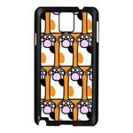 Cute Cat Hand Orange Samsung Galaxy Note 3 N9005 Case (Black)