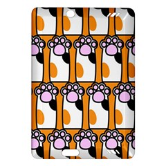 Cute Cat Hand Orange Amazon Kindle Fire Hd (2013) Hardshell Case by AnjaniArt