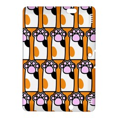 Cute Cat Hand Orange Kindle Fire Hdx 8 9  Hardshell Case by AnjaniArt