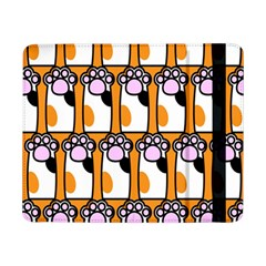 Cute Cat Hand Orange Samsung Galaxy Tab Pro 8 4  Flip Case by AnjaniArt