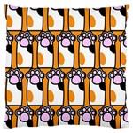 Cute Cat Hand Orange Standard Flano Cushion Case (One Side)