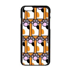 Cute Cat Hand Orange Apple Iphone 6/6s Black Enamel Case by AnjaniArt