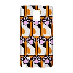 Cute Cat Hand Orange Samsung Galaxy Note 4 Hardshell Case by AnjaniArt
