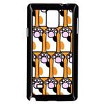 Cute Cat Hand Orange Samsung Galaxy Note 4 Case (Black)