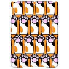 Cute Cat Hand Orange Apple Ipad Pro 9 7   Hardshell Case by AnjaniArt