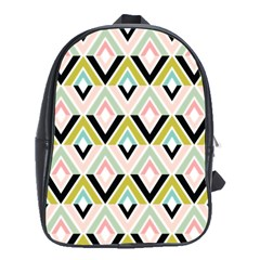 Chevron Pink Green Copy School Bags (xl)  by AnjaniArt