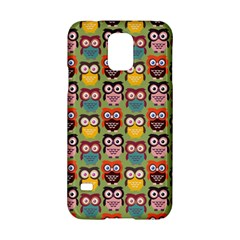 Eye Owl Colorful Cute Animals Bird Copy Samsung Galaxy S5 Hardshell Case  by AnjaniArt