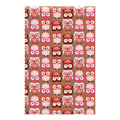 Eye Owl Colorfull Pink Orange Brown Copy Shower Curtain 48  X 72  (small)  by AnjaniArt
