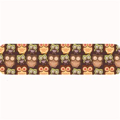 Eye Owl Line Brown Copy Large Bar Mats by AnjaniArt