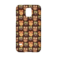 Eye Owl Line Brown Copy Samsung Galaxy S5 Hardshell Case