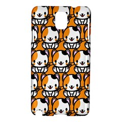 Face Cat Yellow Cute Samsung Galaxy Note 3 N9005 Hardshell Case