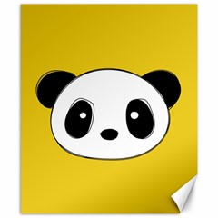 Face Panda Cute Canvas 8  x 10