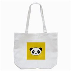 Face Panda Cute Tote Bag (white) by AnjaniArt