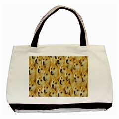 Face Cute Dog Basic Tote Bag (two Sides) by AnjaniArt