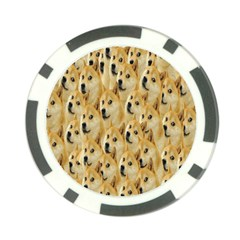 Face Cute Dog Poker Chip Card Guards by AnjaniArt