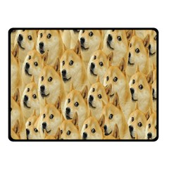 Face Cute Dog Fleece Blanket (small) by AnjaniArt