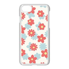 Flower Pink Apple iPhone 7 Seamless Case (White) by AnjaniArt