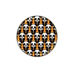 Halloween Night Cute Panda Orange Hat Clip Ball Marker (10 Pack) by AnjaniArt