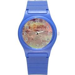Sunrise Round Plastic Sport Watch (s) by theunrulyartist