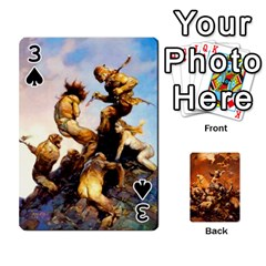 Baraja Frazetta By Fran Xab   Playing Cards 54 Designs   Qmfnhc5m5vwg   Www Artscow Com Front - Spade3