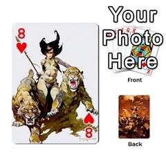 Baraja Frazetta By Fran Xab   Playing Cards 54 Designs   Qmfnhc5m5vwg   Www Artscow Com Front - Heart8