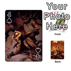 Baraja Frazetta By Fran Xab   Playing Cards 54 Designs   Qmfnhc5m5vwg   Www Artscow Com Front - Spade4