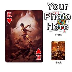 King Baraja Frazetta By Fran Xab   Playing Cards 54 Designs   Qmfnhc5m5vwg   Www Artscow Com Front - HeartK