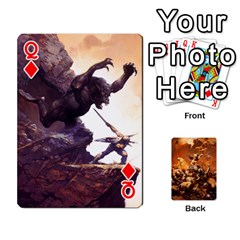 Queen Baraja Frazetta By Fran Xab   Playing Cards 54 Designs   Qmfnhc5m5vwg   Www Artscow Com Front - DiamondQ