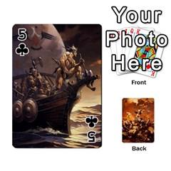 Baraja Frazetta By Fran Xab   Playing Cards 54 Designs   Qmfnhc5m5vwg   Www Artscow Com Front - Club5