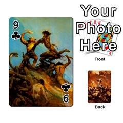 Baraja Frazetta By Fran Xab   Playing Cards 54 Designs   Qmfnhc5m5vwg   Www Artscow Com Front - Club9