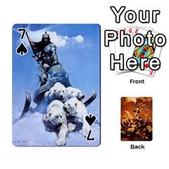 Baraja Frazetta By Fran Xab   Playing Cards 54 Designs   Qmfnhc5m5vwg   Www Artscow Com Front - Spade7