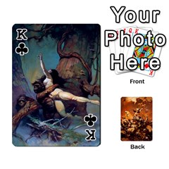 King Baraja Frazetta By Fran Xab   Playing Cards 54 Designs   Qmfnhc5m5vwg   Www Artscow Com Front - ClubK