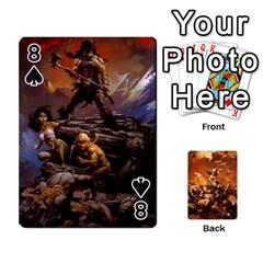 Baraja Frazetta By Fran Xab   Playing Cards 54 Designs   Qmfnhc5m5vwg   Www Artscow Com Front - Spade8